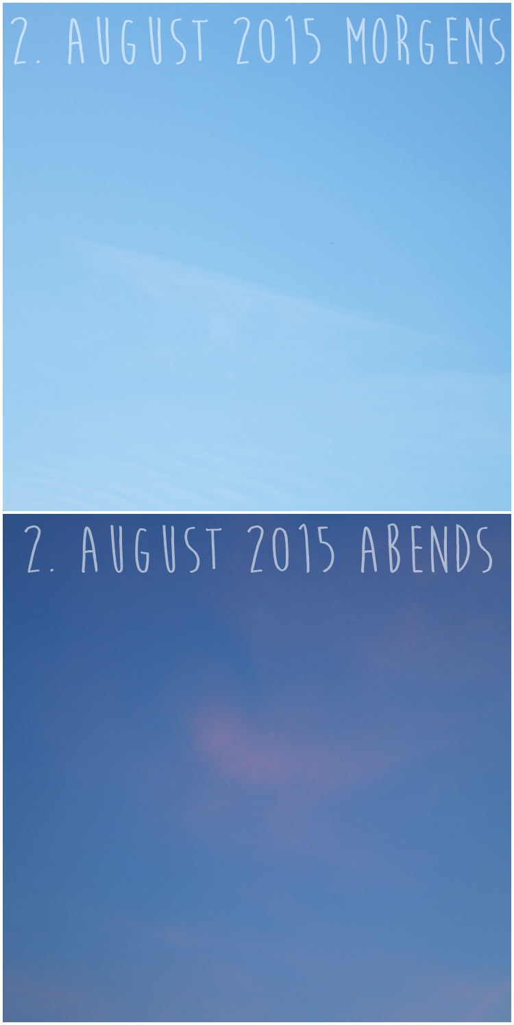 Blog & Fotografie by it's me! - Morgenhimmel und Abendhimmel am 2. August 2015