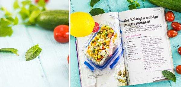 vegetarische Salatidee: Couscous mit frischen Zutaten