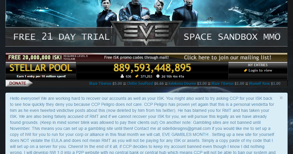 Eve online gambling games