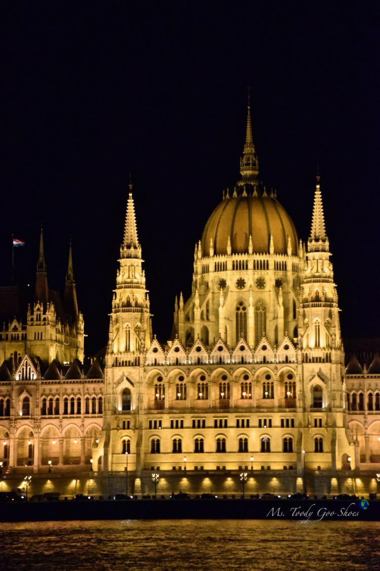 Hungarian Parliament in Budapest  | Ms. Toody Goo Shoes #budapest #danuberivercruise #hungary