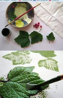Yaprak Baskı Pano Yapımı