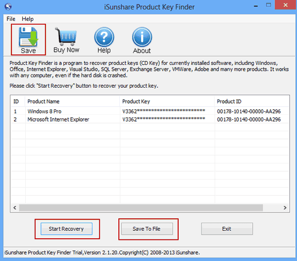 how to recover windows 8 product key