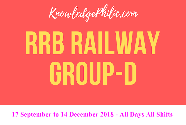 RRB Railway Group D Answer Key 2018 Date Wise – Download Here