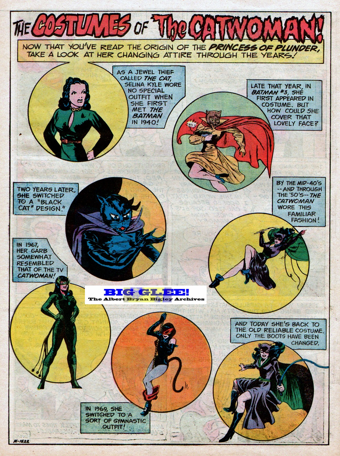 That second-to-last outfit (as seen above) was used by the Mego Toys folks when they made their own  Catwoman  action figure in 1974 as part of their ...  sc 1 st  Big Glee! The Albert Bryan Bigley Archives! & Big Glee! The Albert Bryan Bigley Archives!