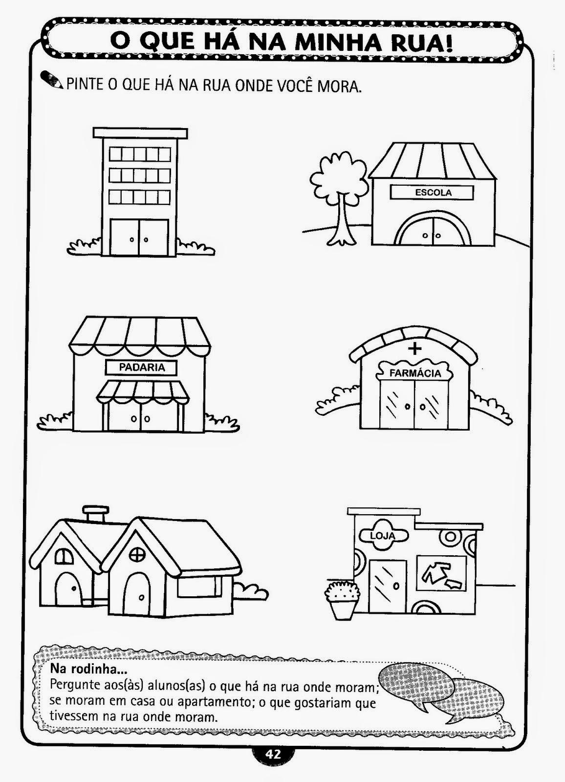 Lição de casa: atividades de historia e geografia