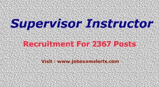 ITI Supervisor Instructor Recruitment