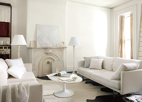 Simply White living rooms