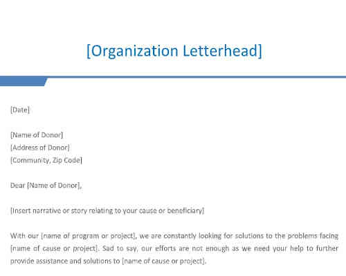 Fundraising Letter Template