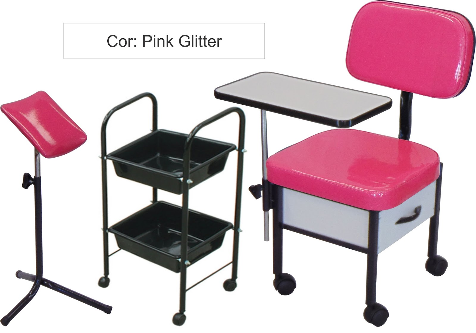 kit st pink glitter