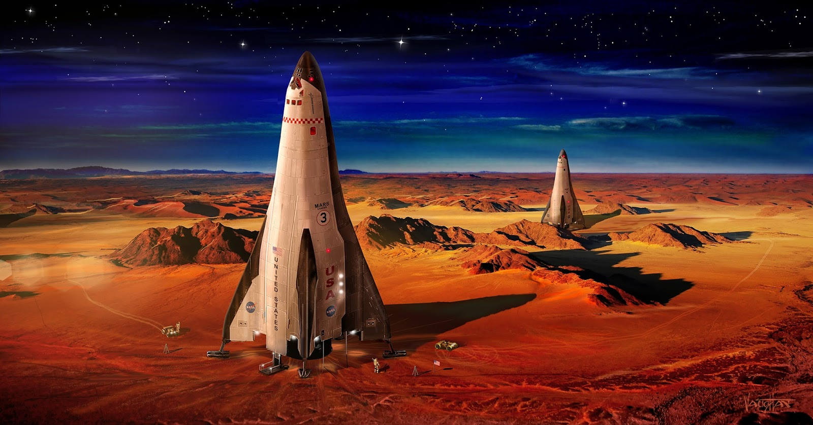 Lockheed Martin landers on Mars by James Vaughan