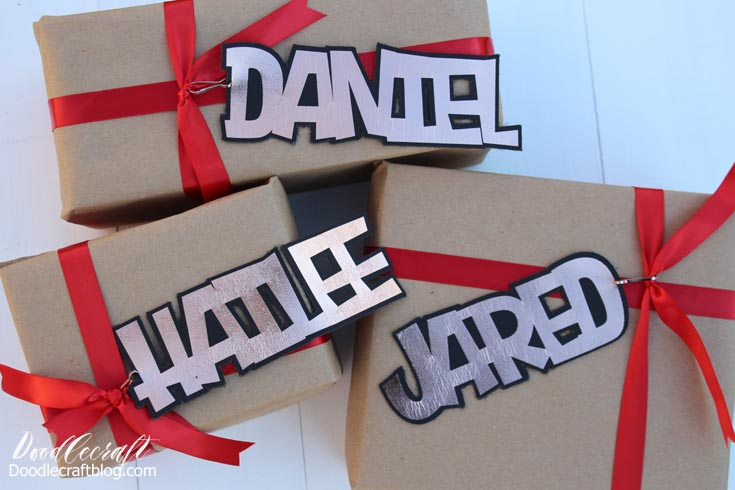 Leather Foil Iron-on Vinyl Name Gift Tag Keychains with