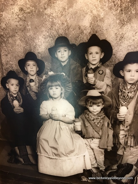 old-time photo at Here's the Scoop in Jamestown, California