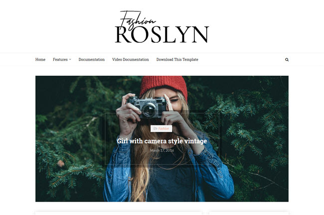 Roslyn – Responsive Fashion Blogger Template