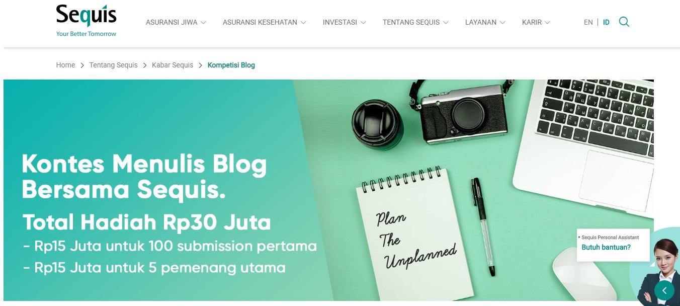 Lomba Blog Sequis Bertema Asuransi