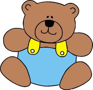 imagens de ursinho marrom e azul