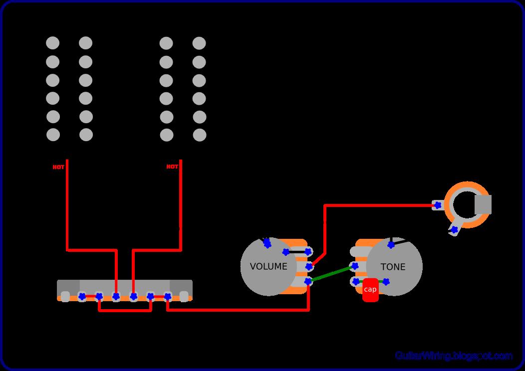 Guitar Wiring Diagram 2 Humbucker 1 Volume - Somurich.com