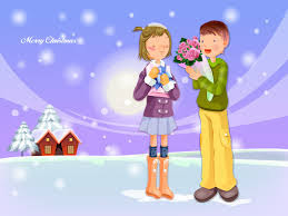 Merry Chrismas cartoon image