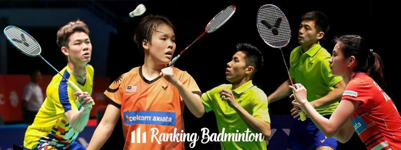 Ranking Badminton Malaysia 2019