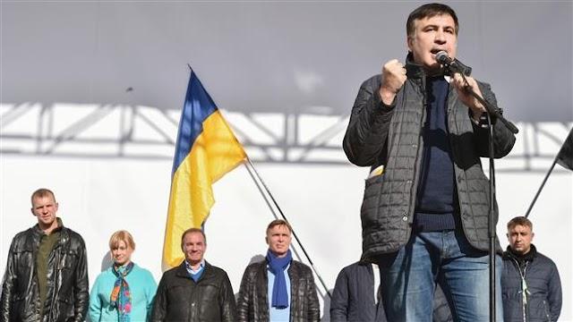 Former Georgian president Mikheil Saakashvili detained in Ukraine