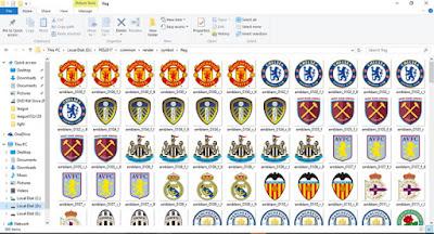 PES 2017 Correct 62 Team Logos