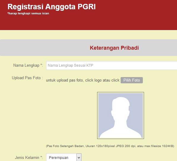 Cara Pendaftaran Online PGRI Untuk Anggota Baru  Data Sekolah