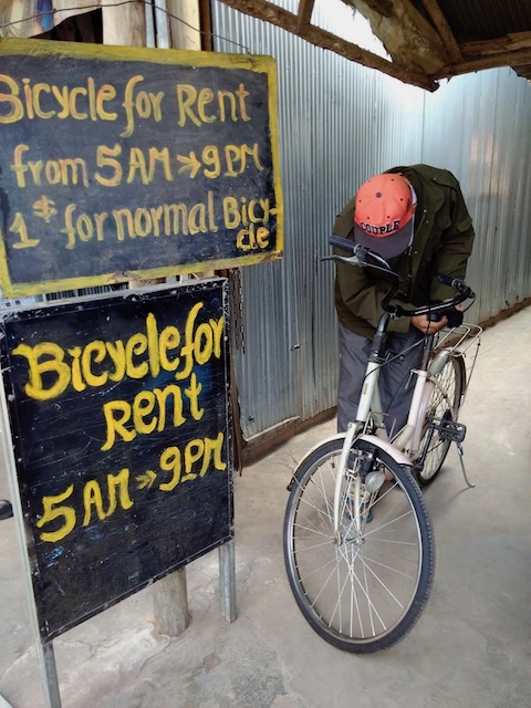 $1 for renting a bike in Cambodia