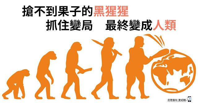 抓住變局的黑猩猩變成人類-皮理春秋