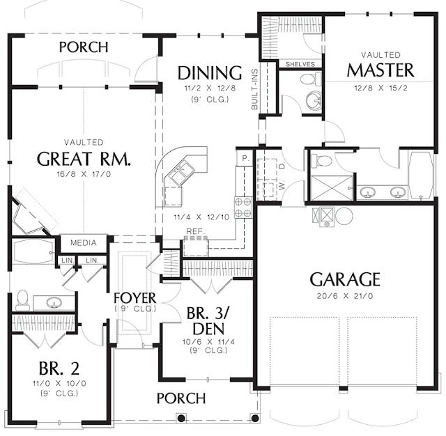 <b>แบบบ้านชั้นเดียว 3 ห้องนอน</b>