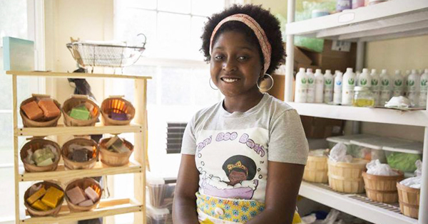 9-Year Old Queen Running Her Own Home-Based Line of Bath Products