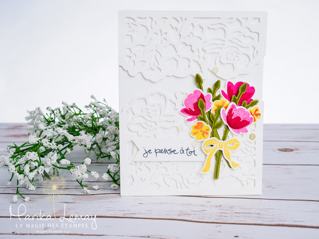 carte avec le lot Petit pot t'amour Stampin' Up!