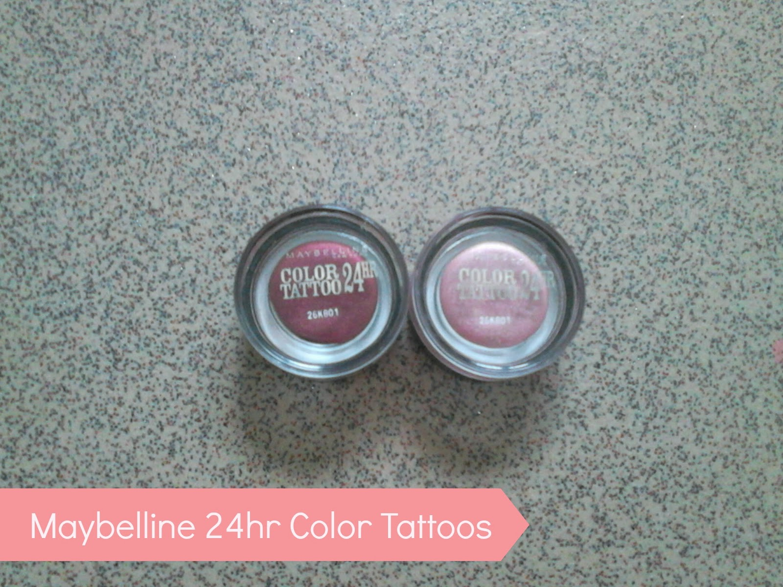 Maybelline 24hr Color Tattoos in Metallic Pomegranate and Pink Gold