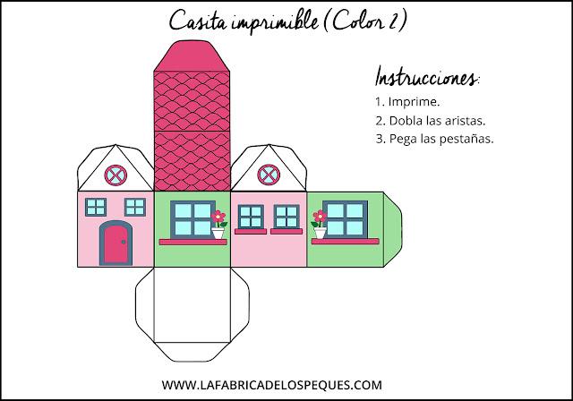 manualidades infantiles casas imprimmibles