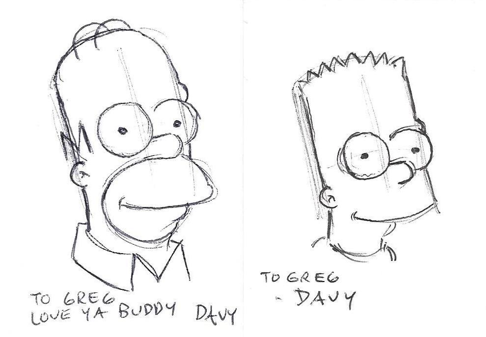 Custom Simpsons Sketch Cards