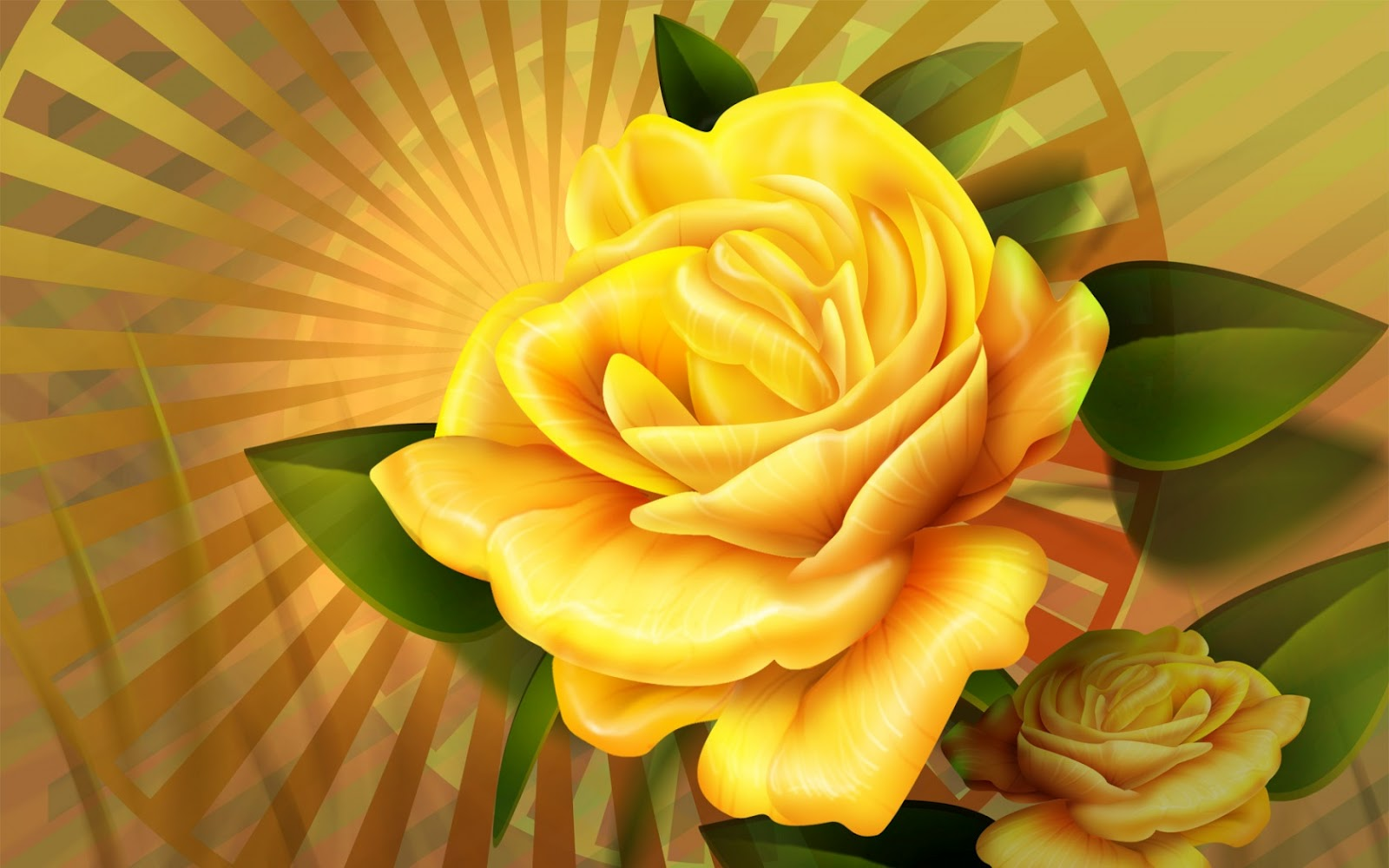 Animated Yellow Roses