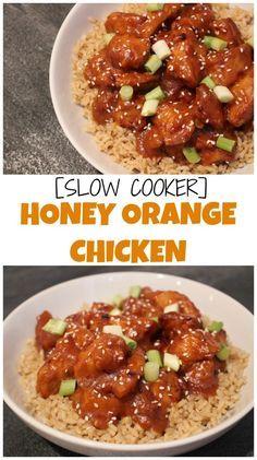Slow Cooker Honey Orange Chicken