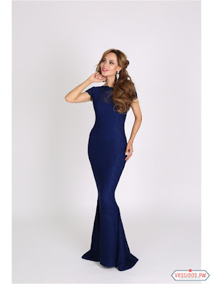 Vestido azul largos