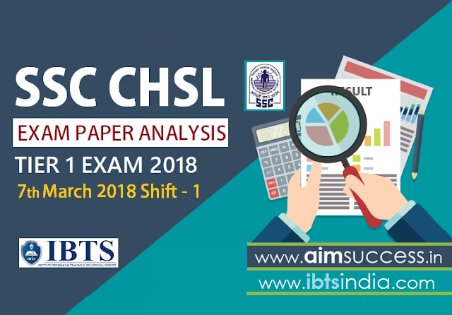 SSC CHSL Tier-I Exam Analysis 7th March 2018: Shift - 1