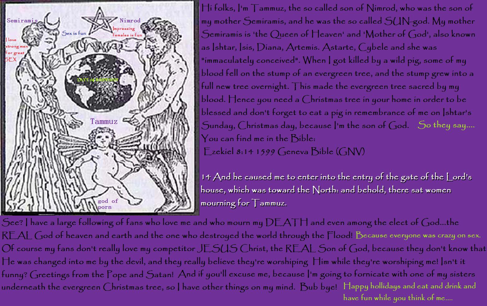 Ezekiel38Rapture: Merry Semiramis Day! The very last Christmas.....