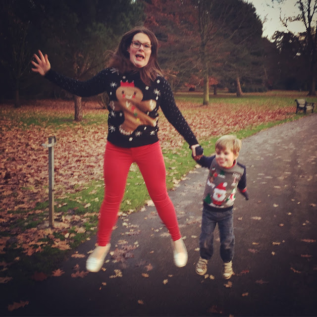 Mrs Bishop & Bert in Nutmeg Christmas Jumpers