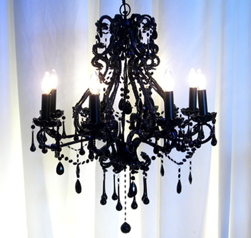 black bedroom chandelier