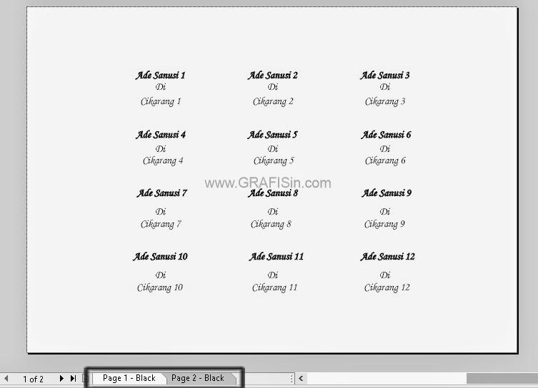 Print / Mail Merge di CorelDraw Contoh Print Banyak Stiker