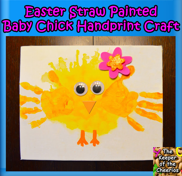 Handprint Easter chick craft idea for kids
