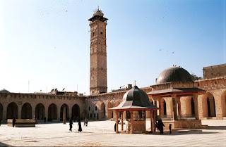 Menara putih di damakus syam (syria)