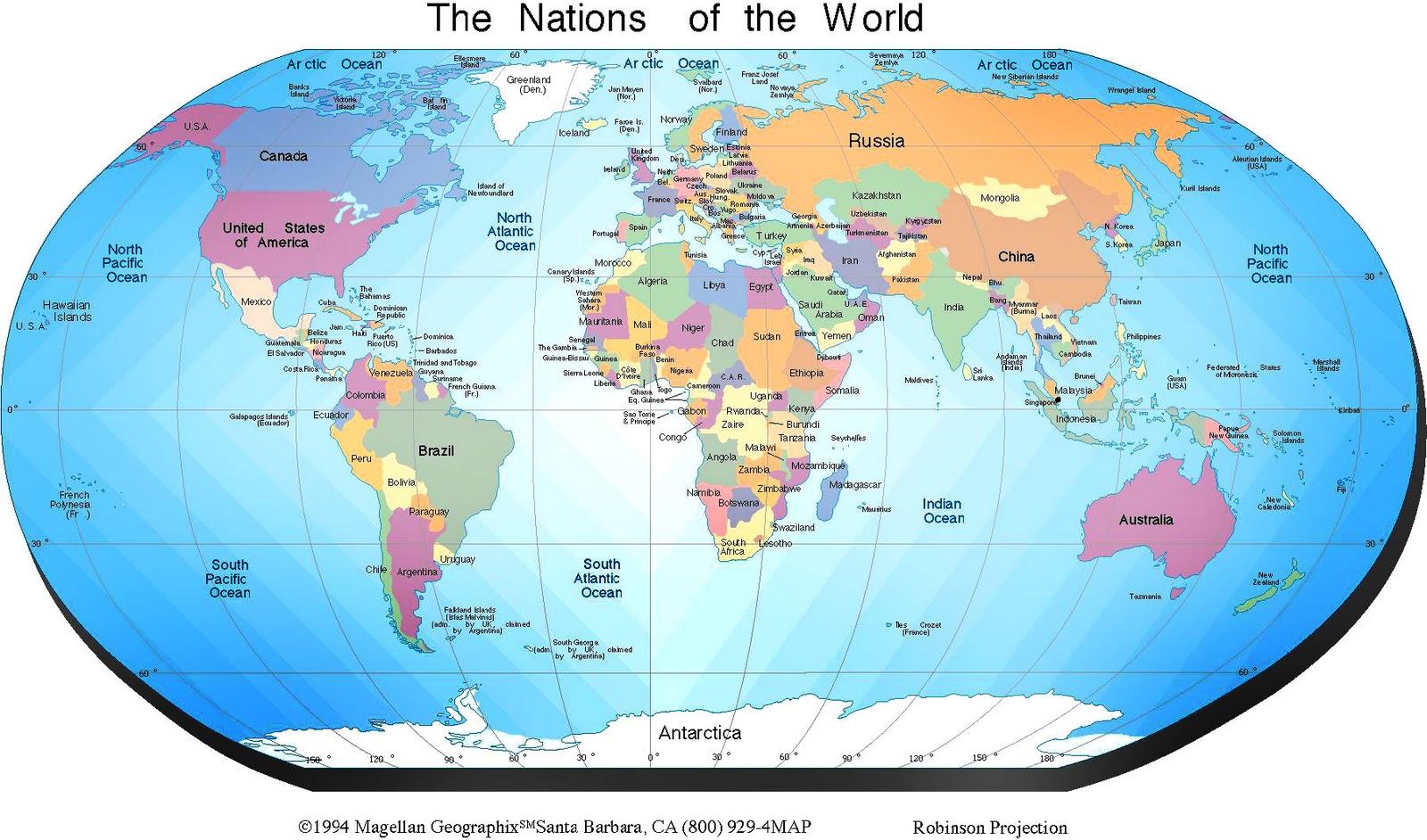 Earthlymaps Political World Map