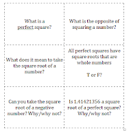 Square Root/Perfect Square Flashcards