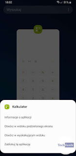 Samsung Podgląd ostatnio otwartych aplikacji