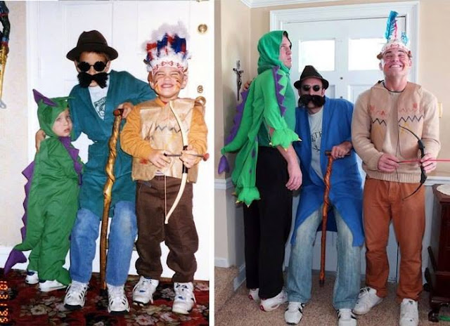 AMAZING! Three Grown-up Brothers Wow The World After Recreating 13 Photos Of Their Childhood Memories