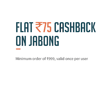 Jabong Flat Rs. 75 Discount Coupon on Rs. 999(Jabong Loot Deals)