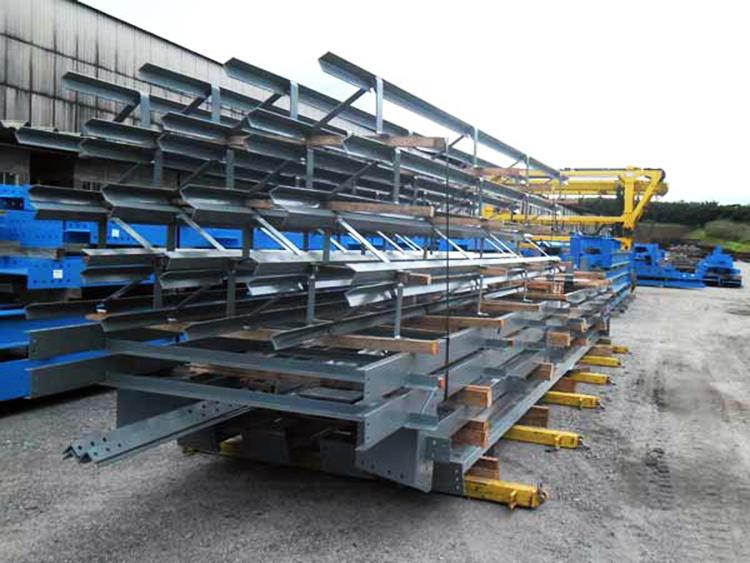 Металлические конструкции, подготовленные под отгрузку