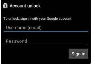 account unlock